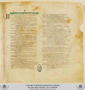 Psalms, Codex Vaticanus